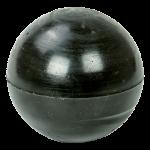 полиуретановый шар, высокоэластичный черный шар